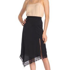Free People Half Slip  Lace Trim Midi Skirt